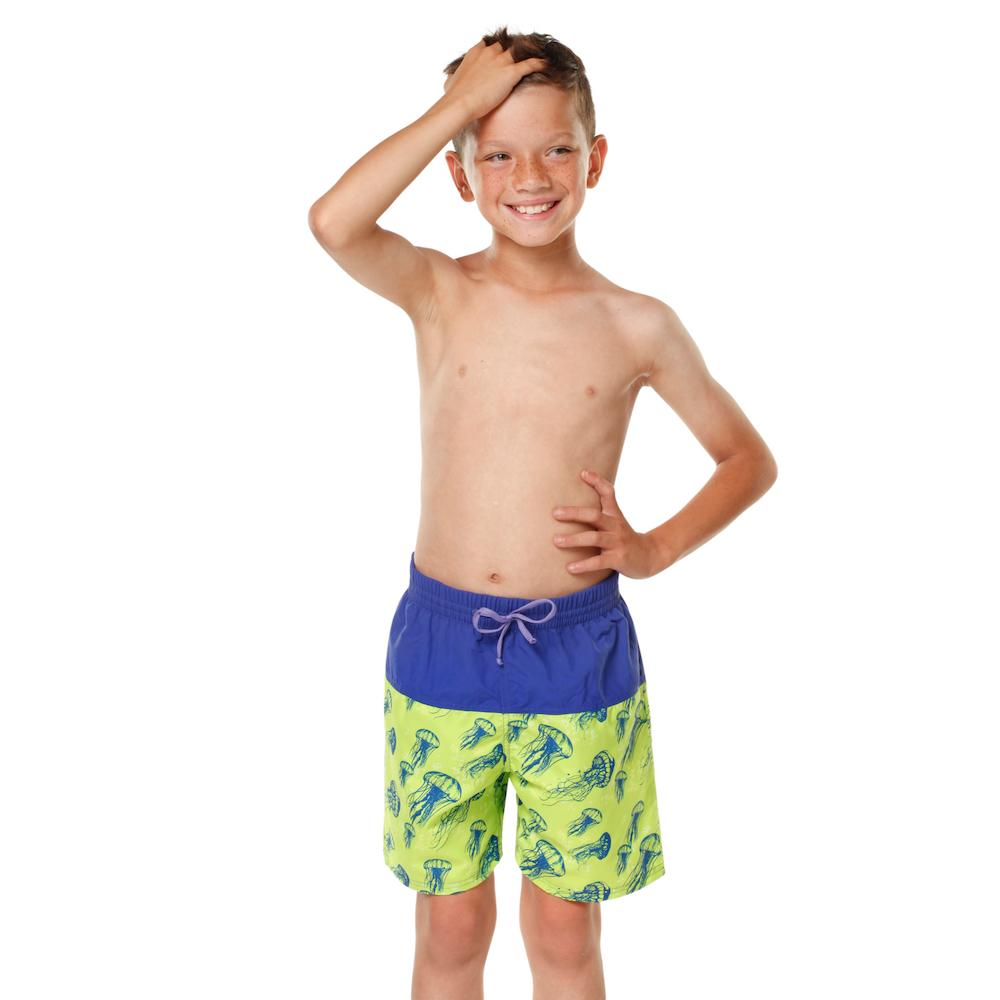 Kesvir boys incontinent swimwear board short front jellyfish child