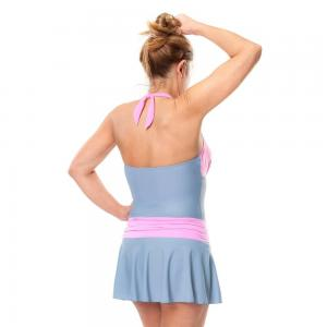 Kesvir womens pink and grey back 3